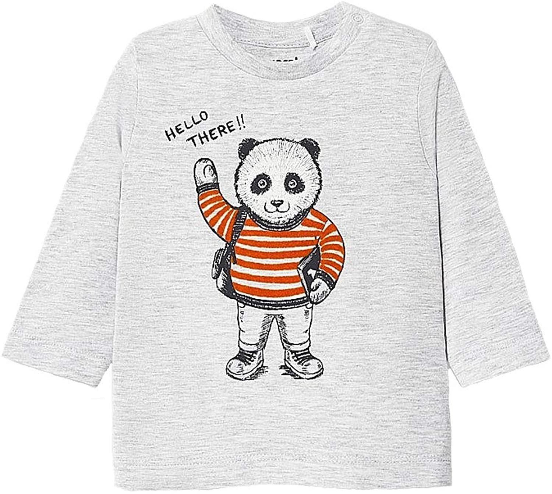 Mayoral - L/s Panda t-Shirt for Baby-Boys - 2041, Gray