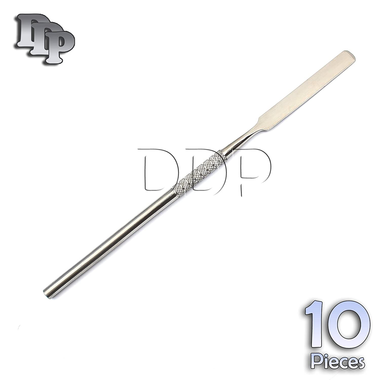 DDP 10 PCS DENTAL CEMENT LAB MIXING 17.6CM SPATULAS WAX MODELING STAINLESS STEEL INSTRUMENTS
