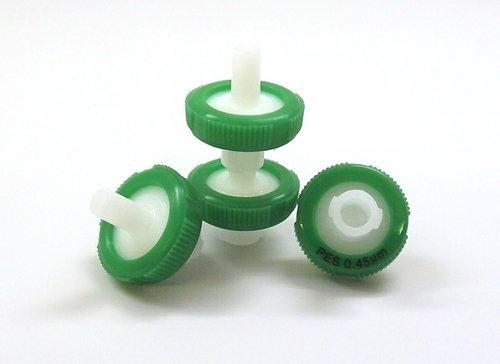 SEOH Syringe Filter Green PES Membrane 13mm Diameter 0.2 um Pore Size Pack of 100