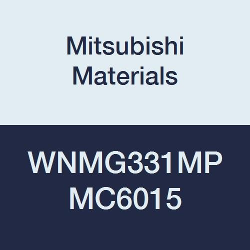 Mitsubishi Materials WNMG331MP MC6015 Carbide WN Type Negative Turning Insert with Hole, Coated, Trigon, Grade MC6015, 0.375