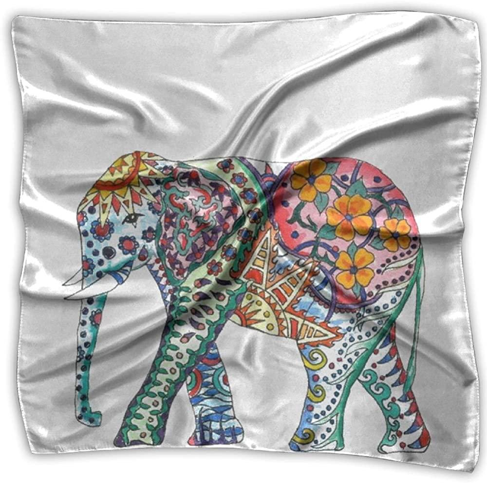 Elephant Madala Printed Square Scarf Scarve Head Wrap Shawl