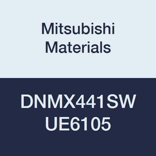 Mitsubishi Materials DNMX441SW UE6105 DNMX Carbide DN Type Negative Turning Insert with Hole, CVD Coated, Rhombic 55°, 0.5 IC, 0.25 Thick, 0.016 Corner Radius, SW Breaker (Pack of 10)