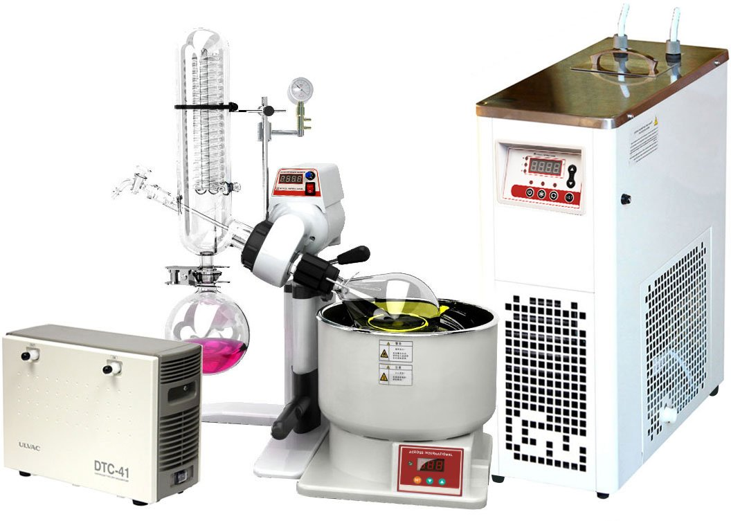 Across International SE05-S2 Ai SolventVap Rotary Evaporator with Chiller and ULVAC Diaphragm Pump, 0.5 gal/2 L, 110V