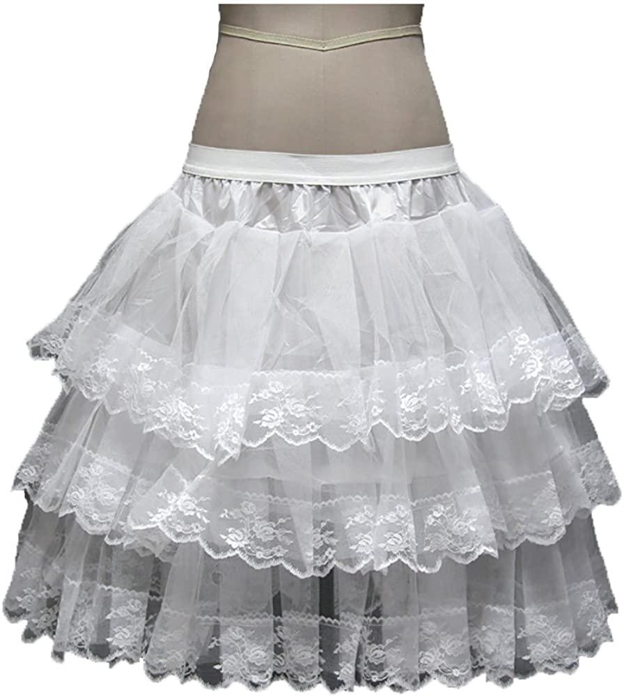 DZdress Kids Puffy Petticoat Ballet Flower Girl Underskirt Crinoline Tutu Skirts White