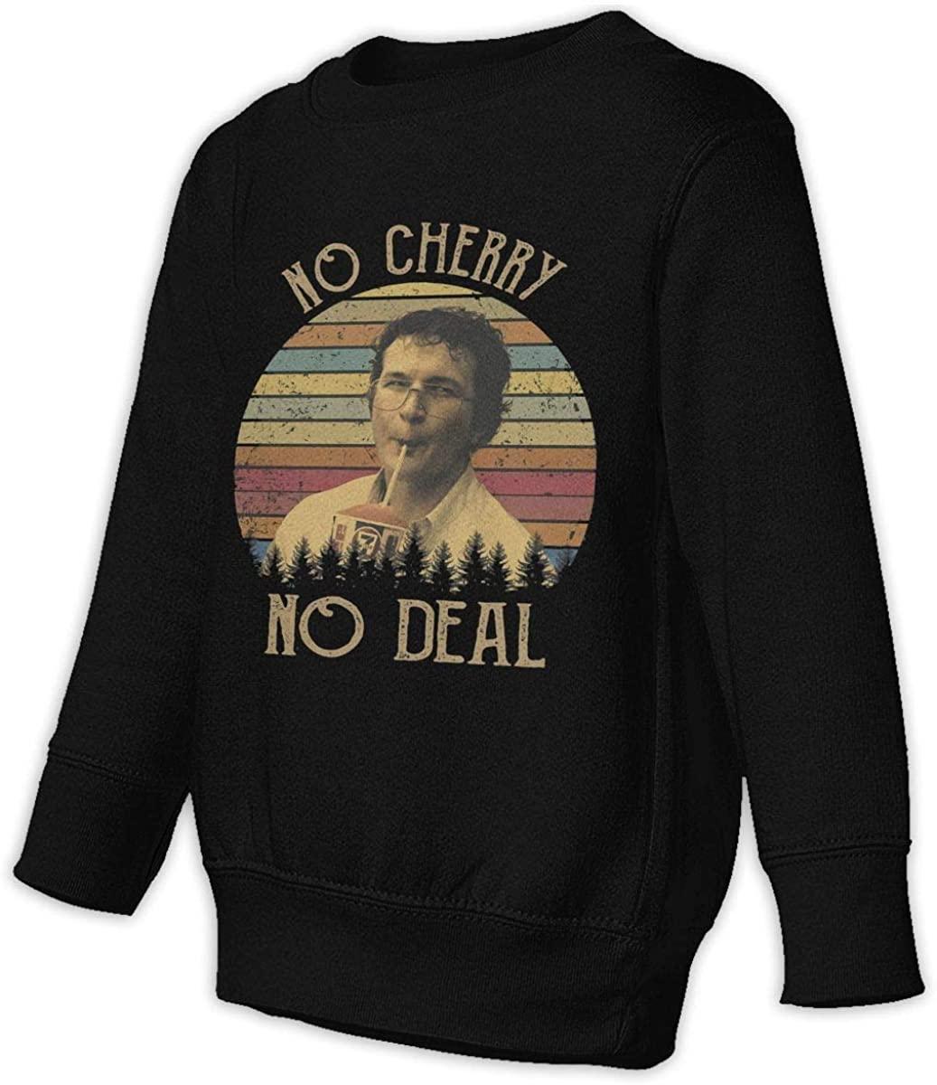 LSHLKJDFN No Cherry No Deal Vintage Unisex Sweatshirt Youth Boy and Girls Pullover Sweatshirt Black