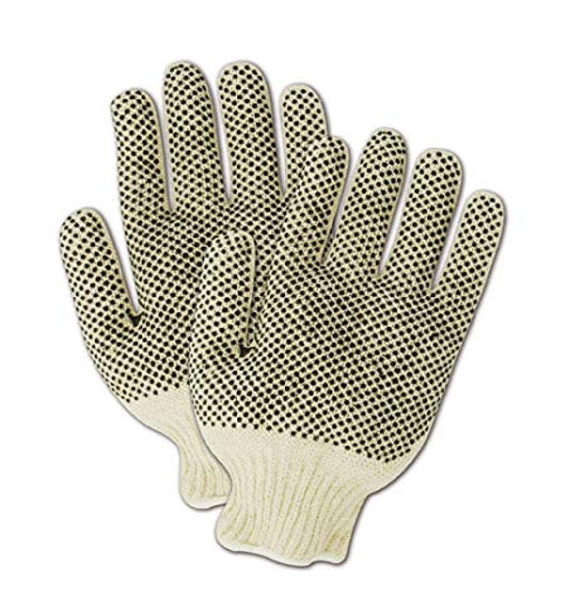 MAGID MultiMaster T936 Cotton/Polyester Glove, Two-Sided Plastic Dots, 10