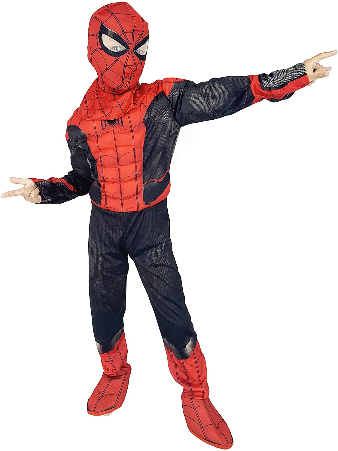 RONGANDHE Kids Superhero Bodysuit Halloween Cosplay Costumes Muscle Far from Home