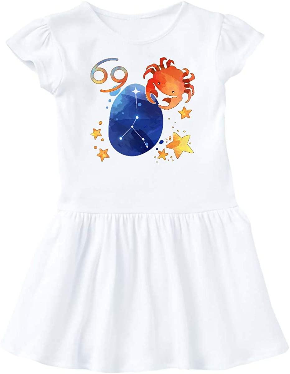 inktastic Cancer Crab Constellation Zodiac Sign Illustration Infant Dress
