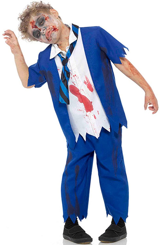 Zombie School Boy Costume Medium Size