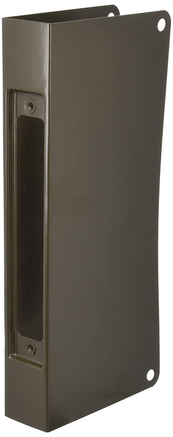 Don-Jo 504-CW 22 Gauge Stainless Steel Mortise Lock Wrap-Around Plate, Oil Rubbed Bronze Finish, 5