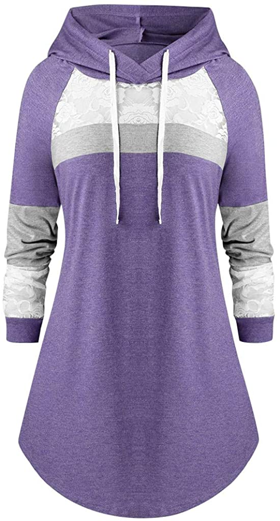 LATINDAY ✞ Women's Thin Tunic Hoodies Long Sleeve Sweatshirts Pullover Blouse Tops
