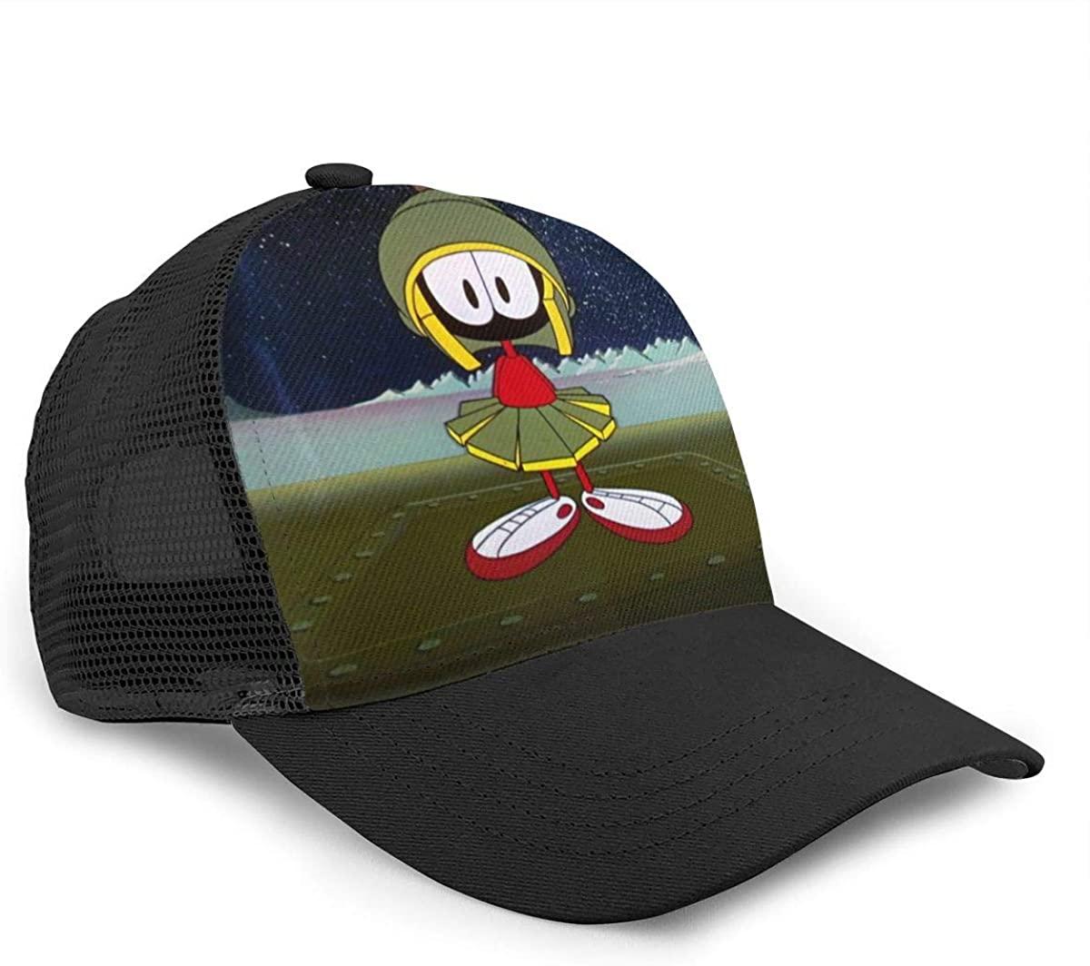 TYUGHJ Marovin The Martoian Summer Unisex Hip Hop Men Baseball Caps Women Breathable Mesh Hats Cap Black
