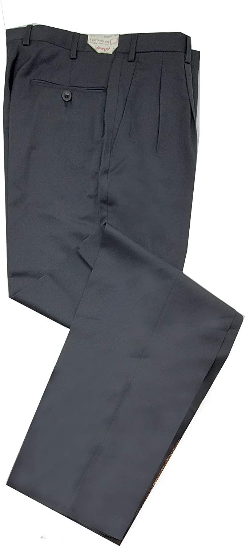 Brioni Mens Cannes Off Black 100% Wool 2 Pleat Front Pants