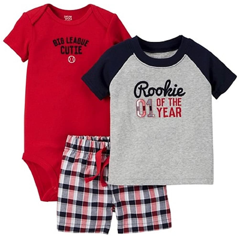 Carter's Just One You Baby Boys' 3pc Rookie Set - Red