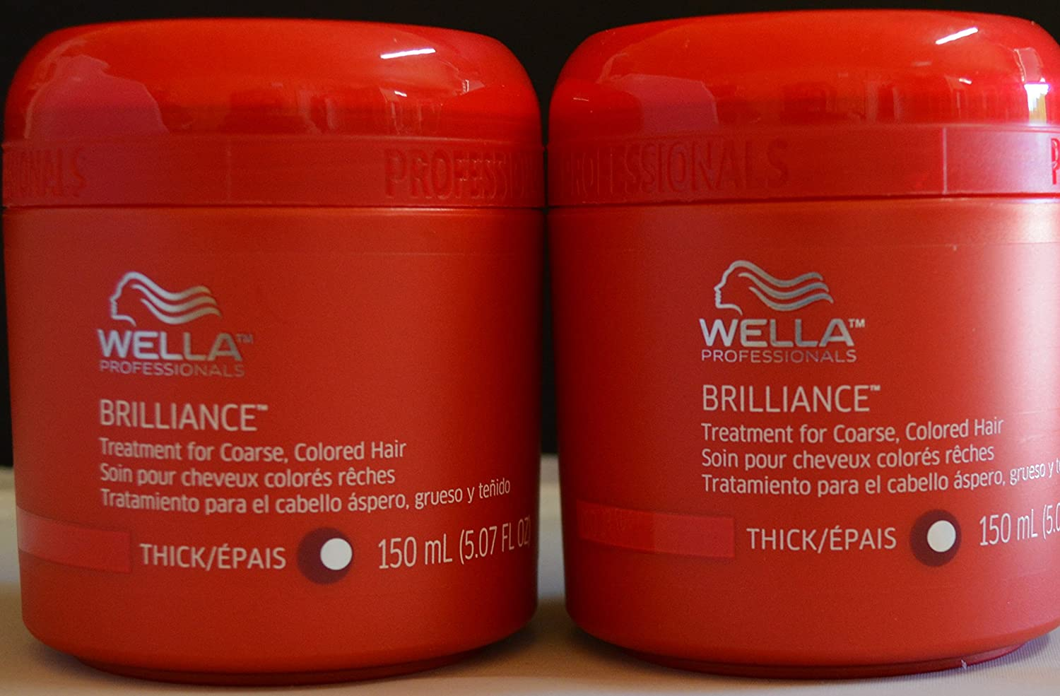 Wella Brilliance Treatment for Coarse Colored Hair 5.07oz (2 pack)