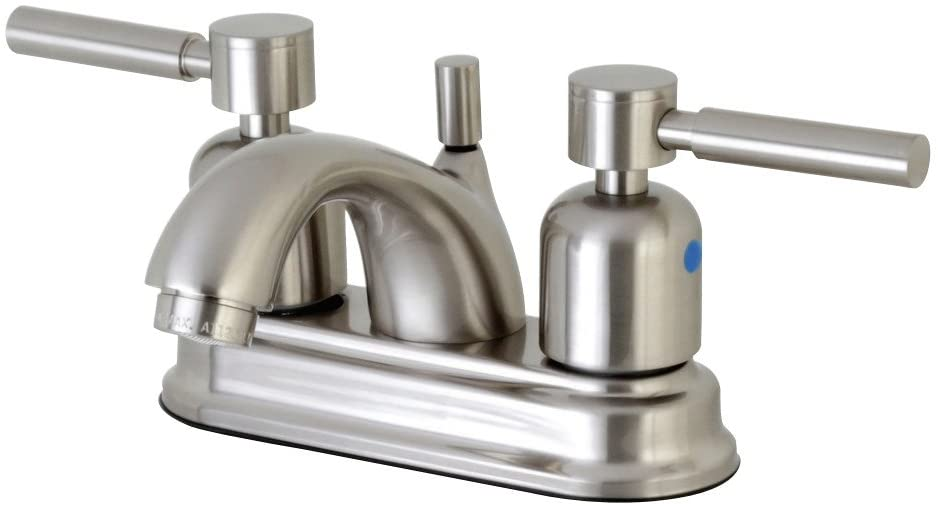Kingston Brass FB2608DL Concord 4-Inch Center Set Lavatory Faucet with Retail Pop-up, Brushed Nickel