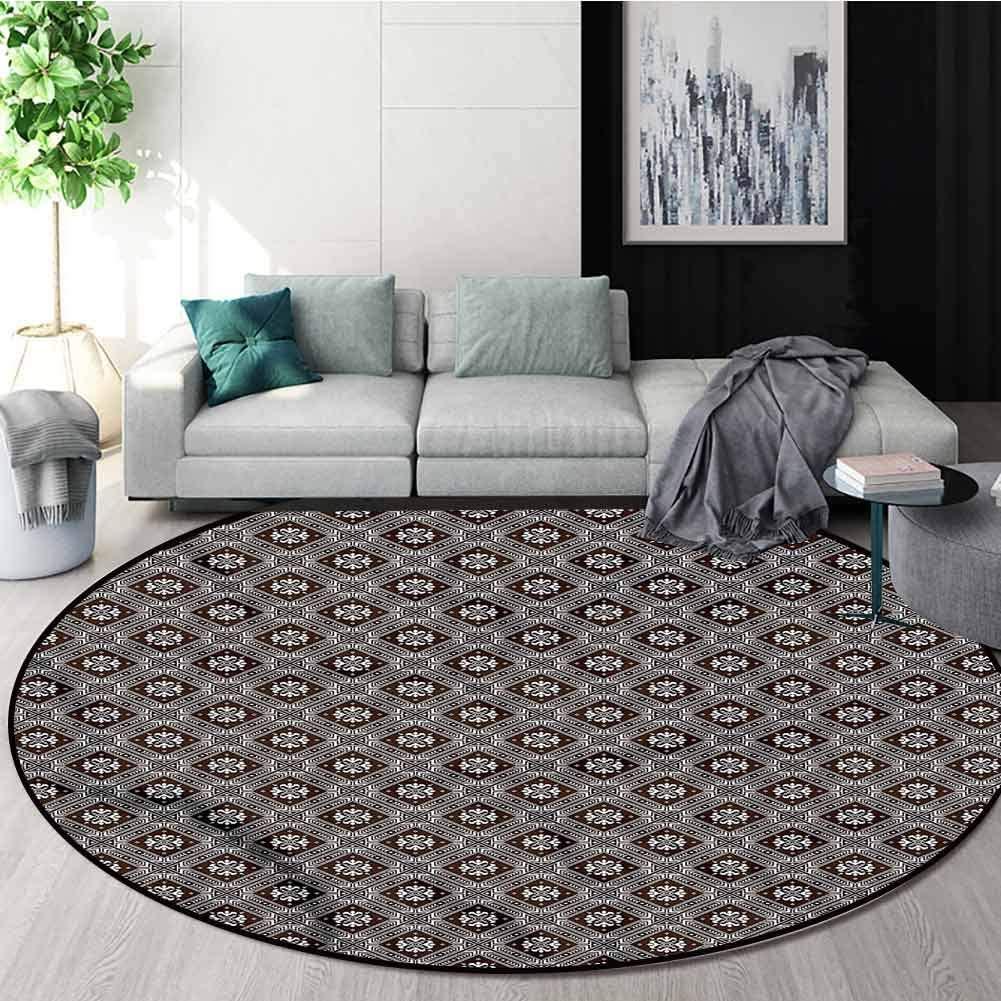 RUGSMAT Ukrainian Round Rugs for Bedroom,European Flowers Floor Mat Home Decor Diameter-39
