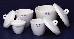 SEOH 10ml Porcelain Crucible w/Lid Tall Form