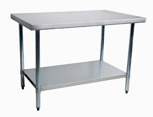 Thunder Group Work Table Stainless Steel Food Prep Restaurant Supply Worktable 30 X 96 NSF