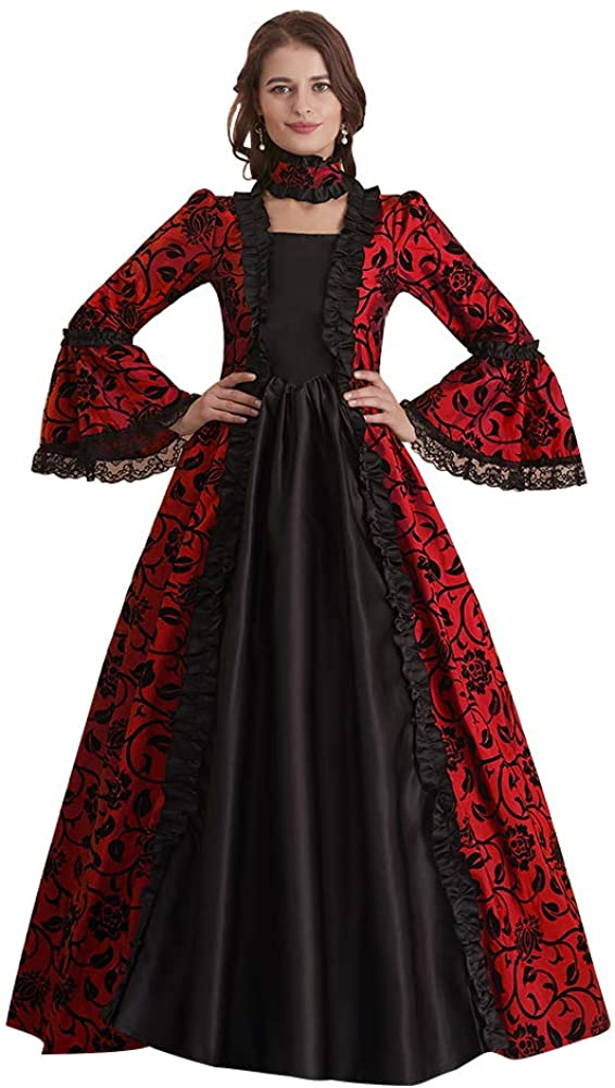 Abaowedding Womens Victorian Rococo Dress Inspiration Maiden Costume Vintage Dress
