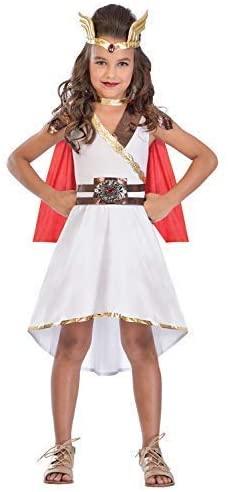 Girls Teens Goddess Princess Roman Greek Superhero World Book Day Week Fancy Dress Costume Outfit 5-14 Years (12-14 Years)