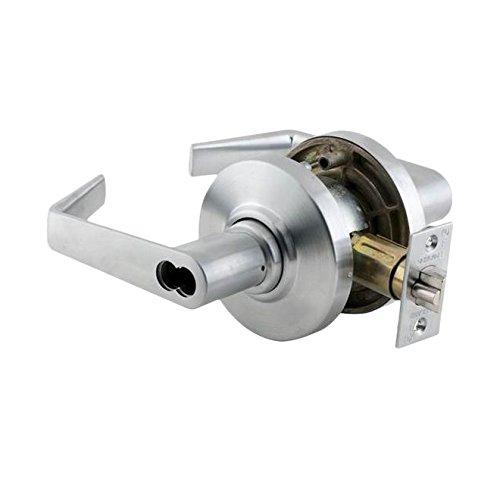 Schlage Commercial AL50JDSAT626 AL Series Grade 2 Cylindrical Lock, Entry/Office Function Push Button Locking, Saturn Lever Design, Satin Chrome Finish