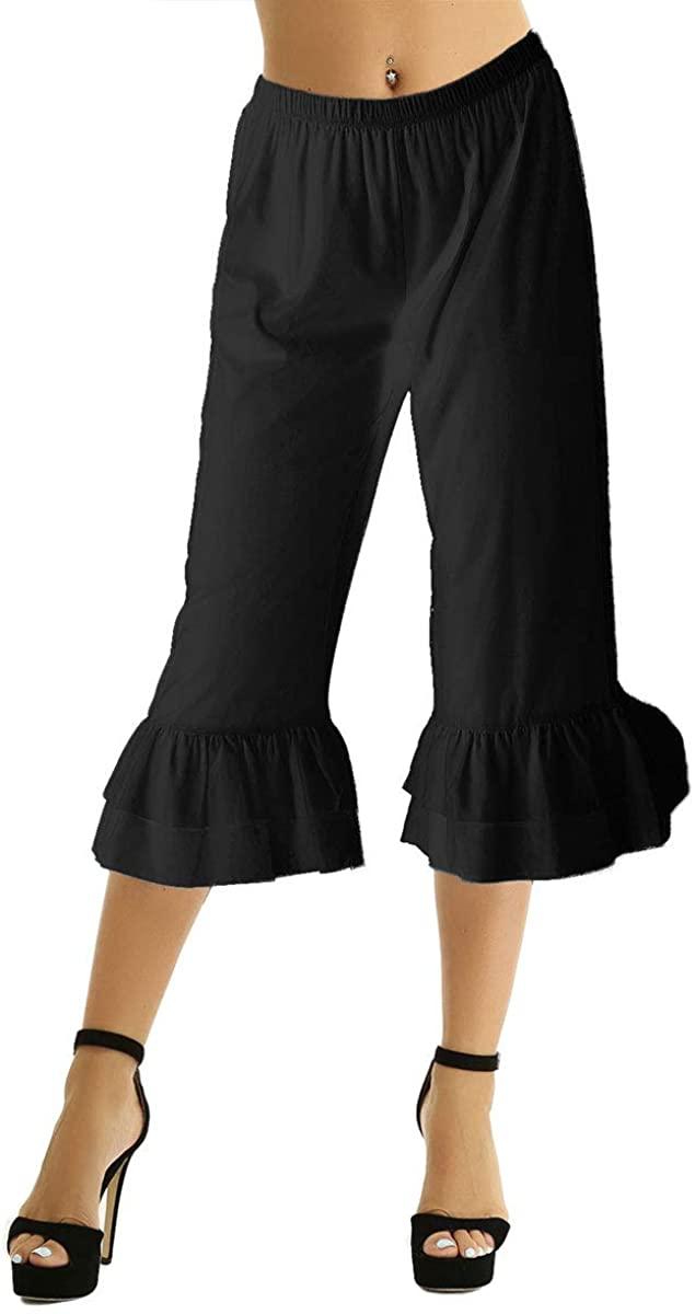 CHICTRY Women's Pumpkin Pantaloons Bloomers Pants Renaissance Ruffles Underpants