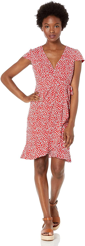 Jessica Howard Women's Petite Faux Wrap Dress