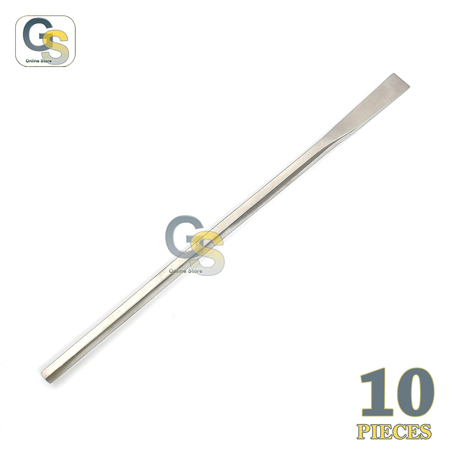 G.S 10 PCS Sheehan Straight Osteotome 2MM Hexagon Handle 16CM Dental Instrument Best Quality