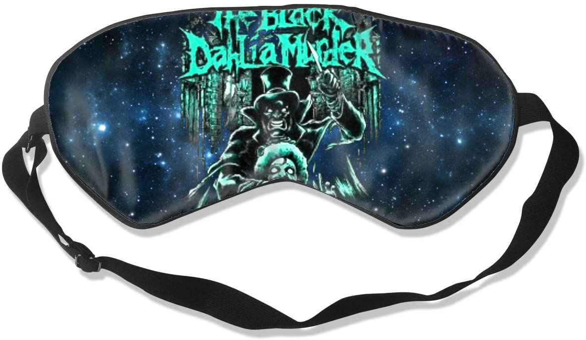 WushXiao Luanelson The Black Dahlia Murder Fashion Personalized Sleep Eye Mask Soft Comfortable with Adjustable Head Strap Light Blocking Eye Cover