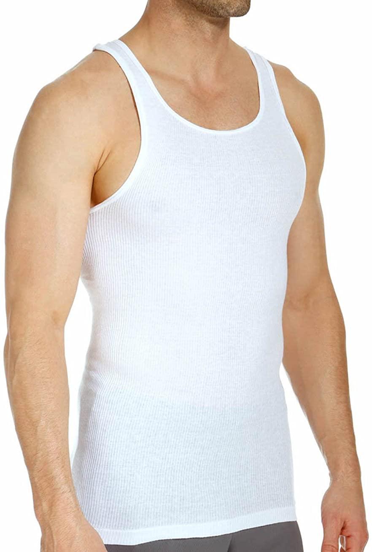 Stafford Men's Tall/X-Tall Length A-Shirt Tank Undershirt 4-Pack