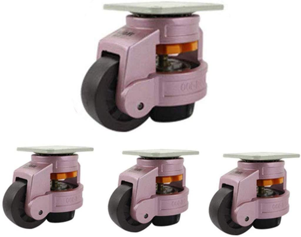 Industrial Casters,GD-40F/60F/80F - Horizontal Adjustment Leveling - Heavy Duty Adjustable,Suitable Equipment - 5 Colors(4pack) / Pink / 80F