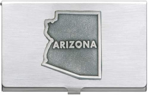 1pc, Pewter Arizona Business Card Case
