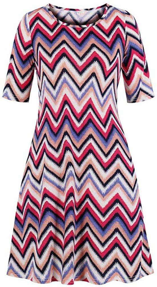 Zebery Siamese Round Neck Dress Large Medium Sleeve Women's 1976 Pentagram XL