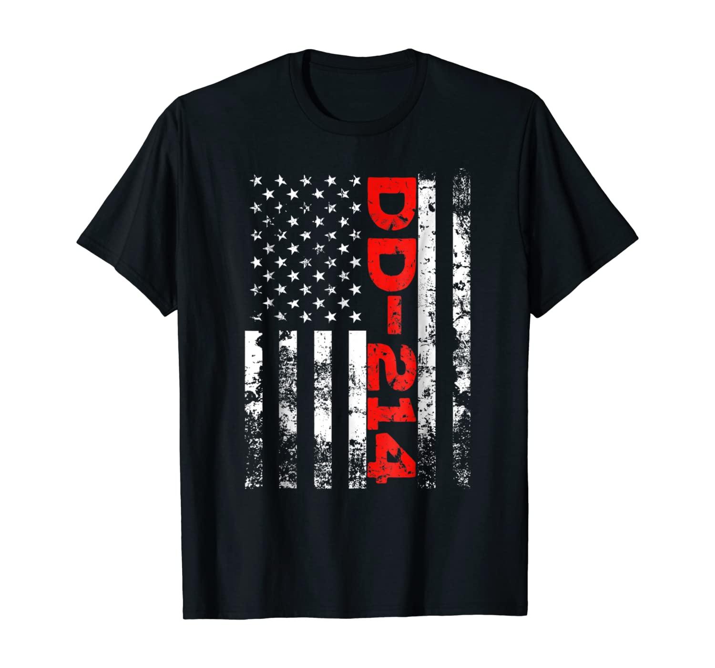 DD-214 US Alumni USA American Flag Vintage T-Shirt