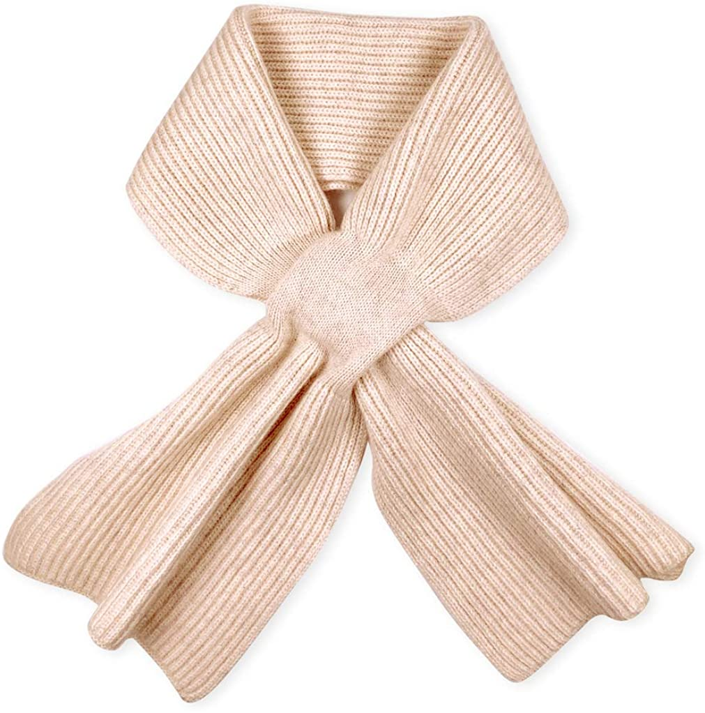 Pure Off-White Scarves for Women, Warm & Windproof Winter Scarf