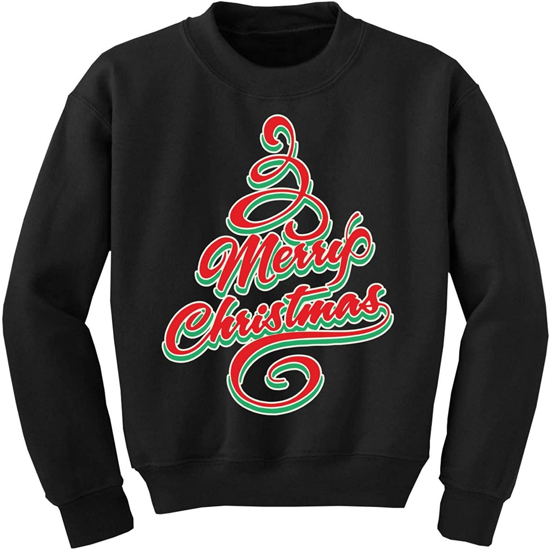 Awkward Styles Ugly Christmas Sweater for Boys Girls Kids Youth Merry Xmas Tree Sweatshirt