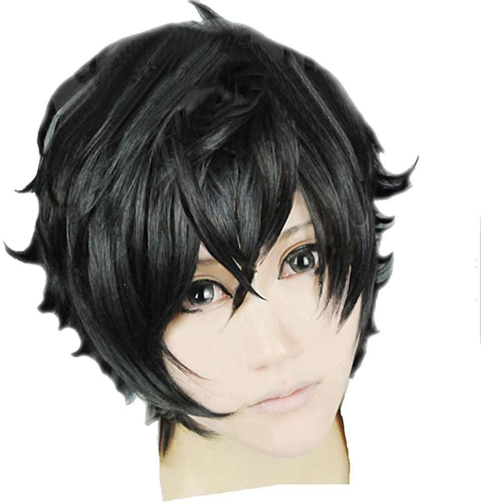 Coslive Axel Riku Wig Kingdom Hearts Anime Hair Case-Hardened Cosplay Costume Wig Accessory