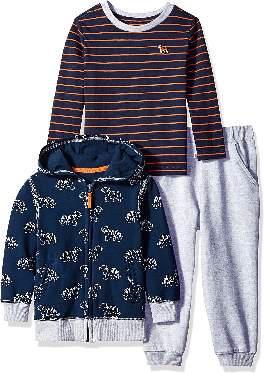 Little Me Toddler Baby Boys' 3 Piece Hooded Jacket Set