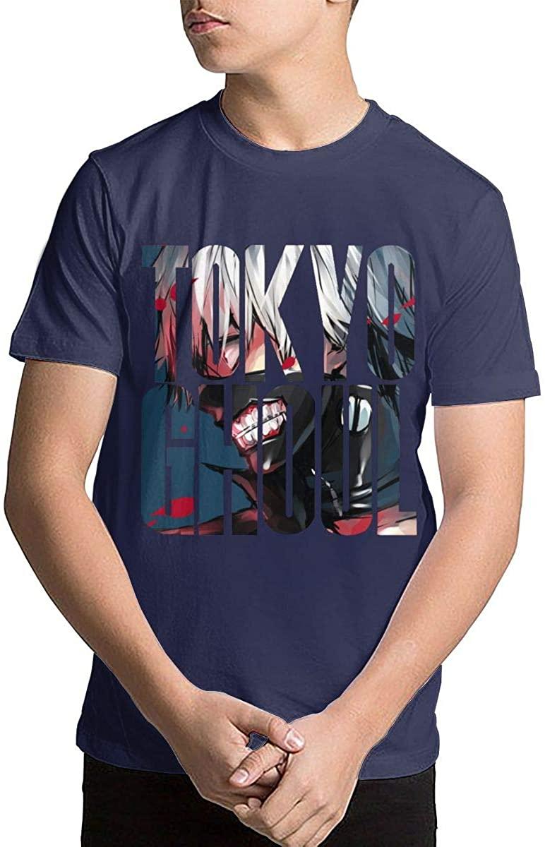 Youth Tokyo Ghoul Teenage Boys Teens Custom T-Shirt, Fashion Shirt for Boys and Girls Navy