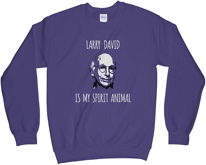 Larry David Sweatshirt Larry Davis is My Spirit Animal Sweatshirt