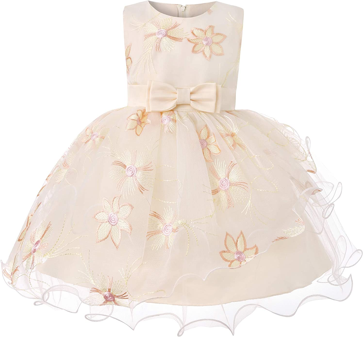 LLQKJOH Baby Dresses Party Wedding Toddler Special Occasion for Newborn Baby Girls