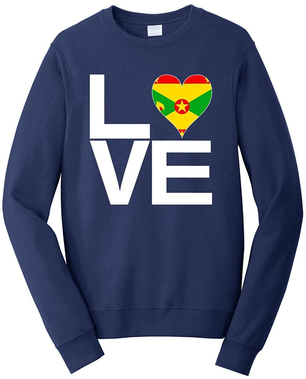 Tenacitee Unisex Love Block Grenada Heart Sweatshirt