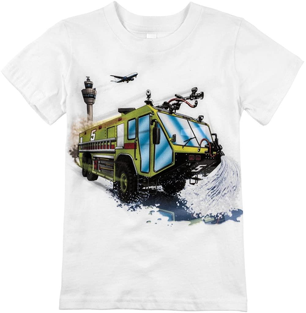 Shirts That Go Little Boys' Airport Fire Truck T-Shirt