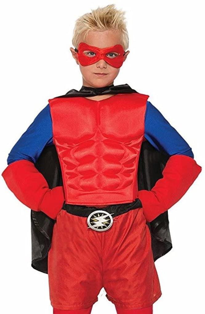 Forum Novelties Child Hero Muscle Chest Costume, Red