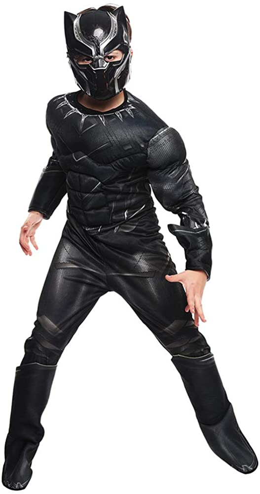 Hallowmax Deluxe Marvel Black Panther Childs Costume Outfits, Small