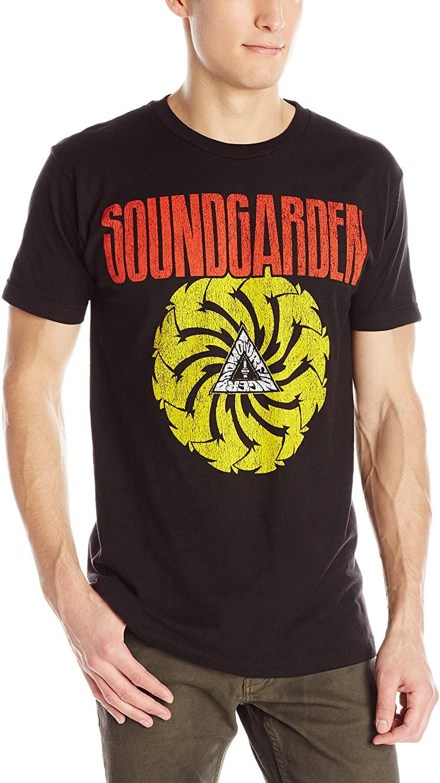 FEA Merchandising Mens Sound Garden Bad Motor Finger Lightweight T-Shirt