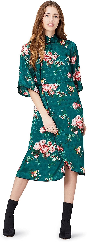 DHgate Brand - find. Womens Midi Floral Wrap Dress