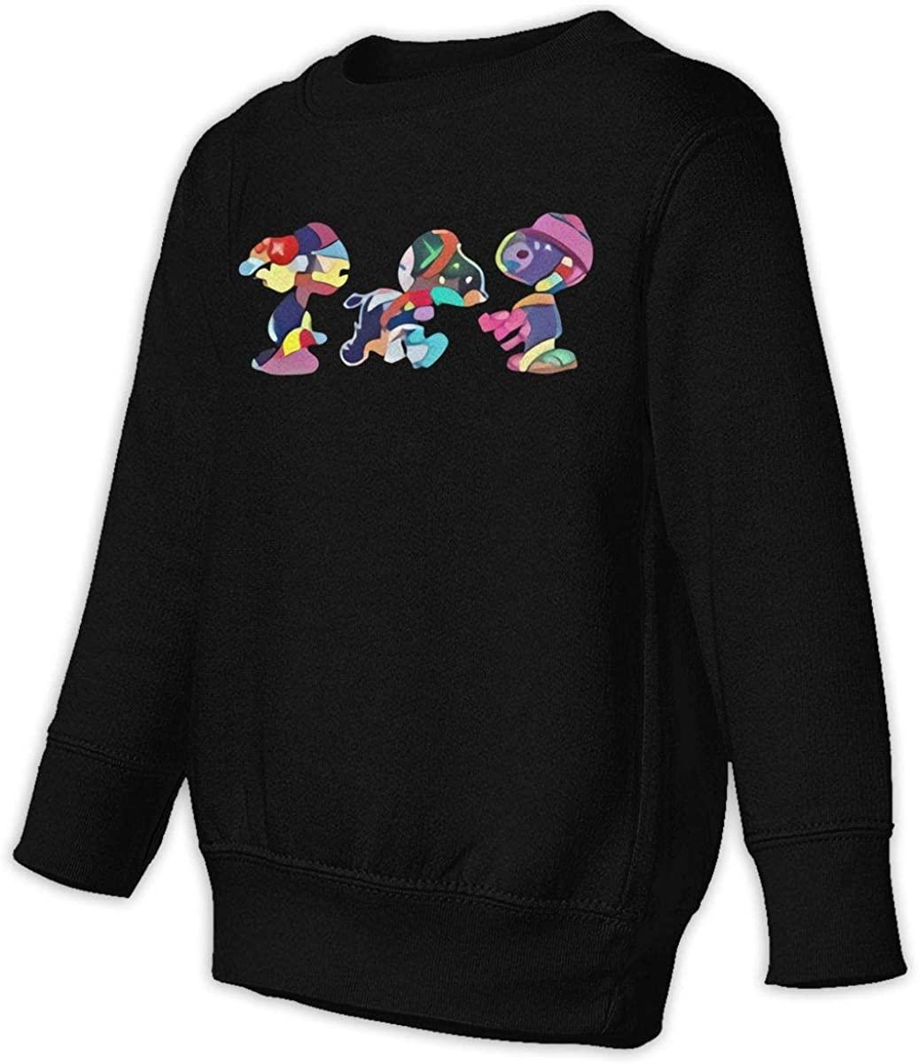 LSHLKJDFN KAWS Snoopy Set Unisex Sweatshirt Youth Boy and Girls Pullover Sweatshirt Black