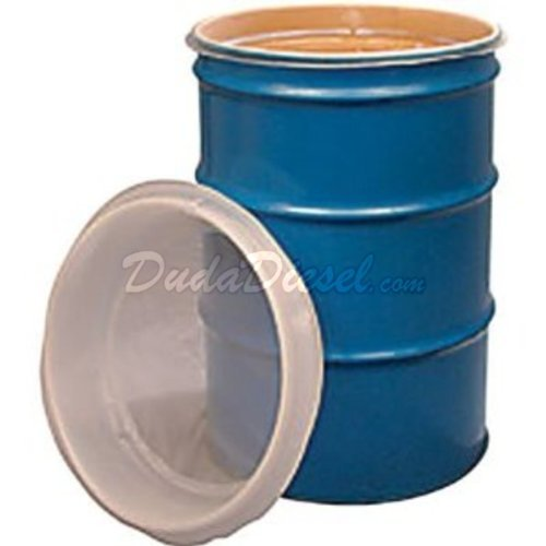 Duda Energy fs55:25u 55 gal EZ Strainer Insert, 25 Micron for Drum Barrel Filtering, Water Paint, Biodiesel, Wvo Wmo Vegetable Oil, 24